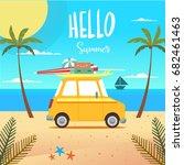 hello summer vector. | Shutterstock .eps vector #682461463