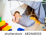 girl at a slumber party | Shutterstock . vector #682468333