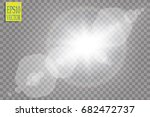 vector transparent sunlight... | Shutterstock .eps vector #682472737