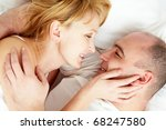 close up of wife and husband... | Shutterstock . vector #68247580