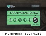 food hygiene rating 5   a sign... | Shutterstock . vector #682476253