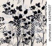 elegant flower vector pattern... | Shutterstock .eps vector #682496107