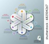 unique infographic design...   Shutterstock .eps vector #682504267