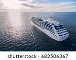 aerial view of cruise liner... | Shutterstock . vector #682506367