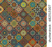 colorful vintage seamless... | Shutterstock .eps vector #682515307