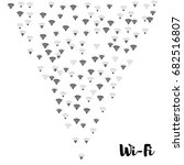 wi fi icons vector pattern.... | Shutterstock .eps vector #682516807