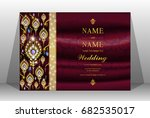 luxury wedding invitation card... | Shutterstock .eps vector #682535017