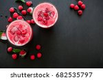 raspberry ice cold refreshing... | Shutterstock . vector #682535797
