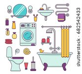bath equipment icons made in... | Shutterstock . vector #682542433