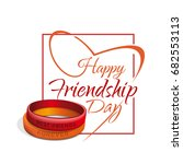 friendship day lettering card.... | Shutterstock .eps vector #682553113
