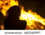 fires in the summer of 2017 | Shutterstock . vector #682560997