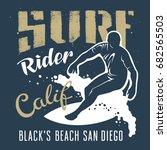 surfing artwork. black's beach...   Shutterstock .eps vector #682565503