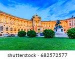 vienna  austria. hofburg... | Shutterstock . vector #682572577
