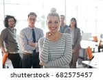 portrait of successful... | Shutterstock . vector #682575457