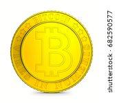 coin bitcoin on white...   Shutterstock . vector #682590577