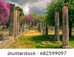 the archaeological site of... | Shutterstock . vector #682599097