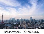 skyline of cityscapes tokyo... | Shutterstock . vector #682606837