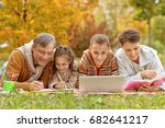 father  mother  and children  | Shutterstock . vector #682641217