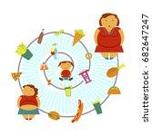 obesity infographic template  ... | Shutterstock .eps vector #682647247
