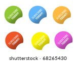 subscribe today stickers | Shutterstock . vector #68265430