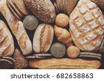 bread background  top view of...   Shutterstock . vector #682658863