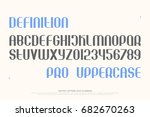 set of stylish alphabet letters ... | Shutterstock .eps vector #682670263