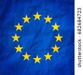 flag of european union  eu ... | Shutterstock .eps vector #682684723