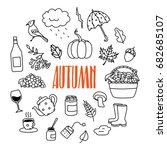 autumn  fall season related... | Shutterstock .eps vector #682685107