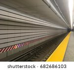 looking down the train tracks... | Shutterstock . vector #682686103