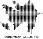 map of azerbaijan | Shutterstock .eps vector #682688443