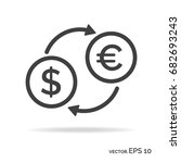 currency exchange outline icon... | Shutterstock .eps vector #682693243