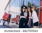 beautiful young girl outdoors... | Shutterstock . vector #682703563