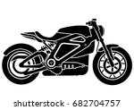 old vintage motorcycle | Shutterstock .eps vector #682704757