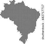 map of brazil  | Shutterstock .eps vector #682717717