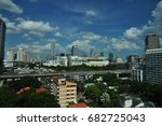 cityscape many building.aerial ... | Shutterstock . vector #682725043