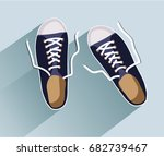sneakers. sneakers in flat... | Shutterstock .eps vector #682739467