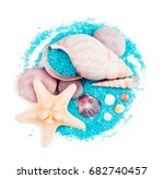 sea shells and sea stars with... | Shutterstock . vector #682740457