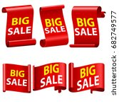 big sale banne ribbon... | Shutterstock . vector #682749577