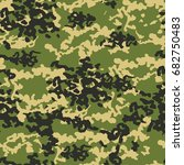 camouflage pattern background... | Shutterstock . vector #682750483