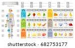 balance diet infographic... | Shutterstock .eps vector #682753177