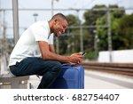 portrait of young black... | Shutterstock . vector #682754407