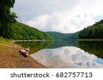 bystrzyckie lake in zagorze... | Shutterstock . vector #682757713