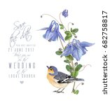 vector wedding invitation card... | Shutterstock .eps vector #682758817