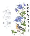 vector wedding invitation card... | Shutterstock .eps vector #682758823