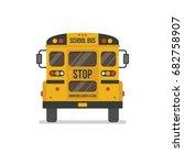 school bus back view flat... | Shutterstock .eps vector #682758907