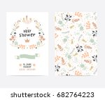 set of perfect vector card... | Shutterstock .eps vector #682764223