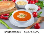 chorba soup tomato ready made... | Shutterstock . vector #682764697