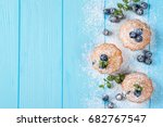 homemade baked muffin with... | Shutterstock . vector #682767547