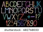 carelessly written multicolored ... | Shutterstock .eps vector #682768033