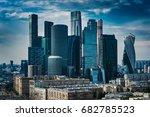 moscow city modern business... | Shutterstock . vector #682785523